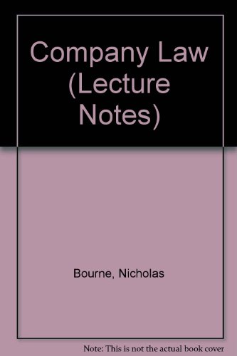 9781859411643: Company Law Lecture Notes