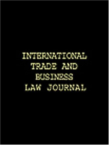International Trade and Business Law Annual (v.: Foreign, Australian Institute