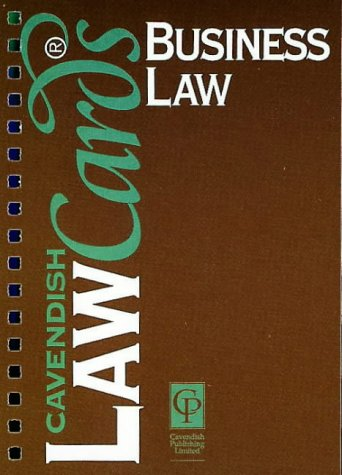 9781859413340: Business Law (Lawcards)
