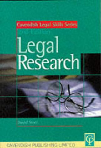 Legal Research (Legal Skills Series) (1859413382) by Stott; David Stott; Julie Macfarlane