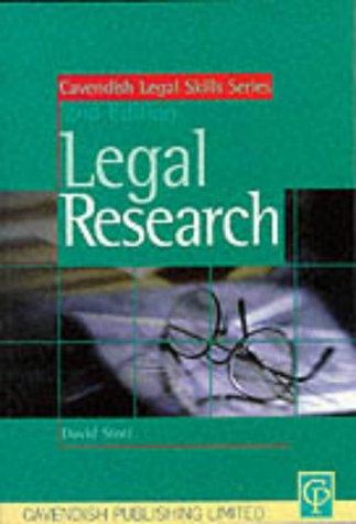 Legal Research (Legal Skills Series) (1859413382) by David Stott; Julie Macfarlane; Stott