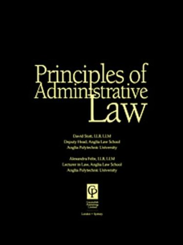 9781859413708: Principles Of Administrative Law