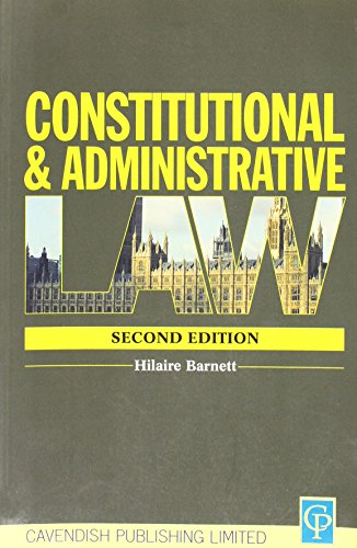 9781859414033: Constitutional & Administrative Law