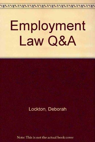 9781859414156: Employment Law (Question & Answers)