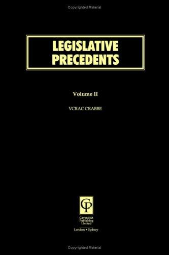 9781859414217: Legislative Precedents Volume 2
