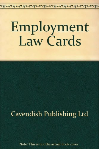 9781859414293: Employment Law (Lawcards)