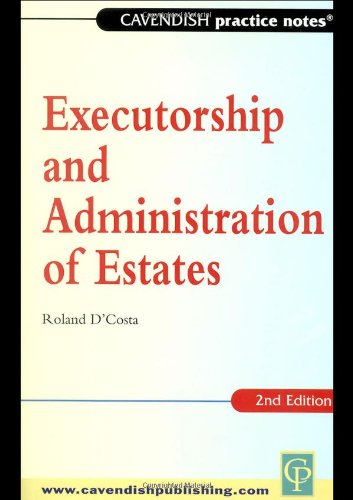 9781859414590: Practice Notes Executorship and Administration of Estates (Practice Notes)