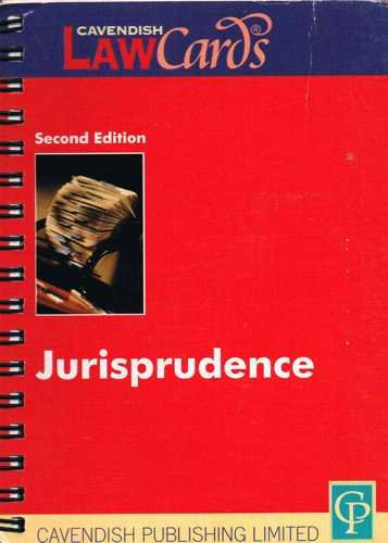 9781859415108: Cavendish: Jurisprudence Lawcards