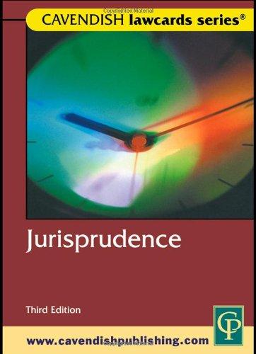 9781859415184: Cavendish: Jurisprudence Lawcards