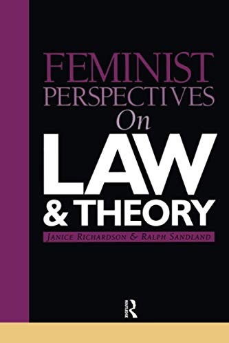9781859415283: Feminist Perspectives on Law and Theory