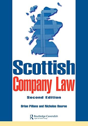 Scottish Company Law: Pillans, Brian; Bourne, Nicholas