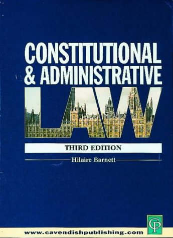 9781859415528: Constitutional and Administrative Law