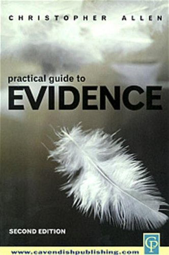 Practical Guide To Evidence (9781859416044) by Allen