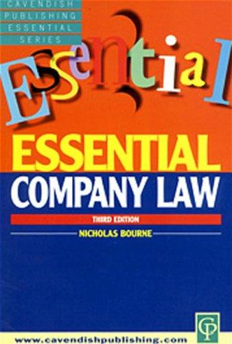 9781859416051: Essential Company Law (Cavendish Publishing Essential)