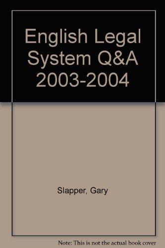 9781859416266: Q&A English Legal System 4th edition (Q&A Series)
