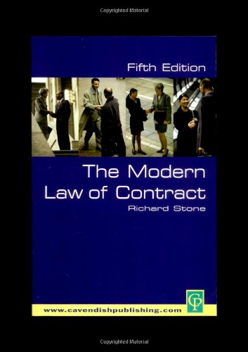 9781859416679: The Modern Law of Contract 5/E