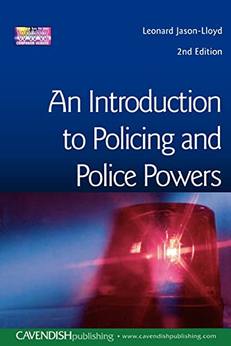 9781859417058: Introduction to Policing and Police Powers