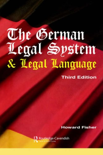 9781859417065: The German Legal System and Legal Language