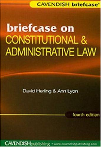 9781859417607: Briefcase on Constitutional & Administrative Law (Briefcase Series)