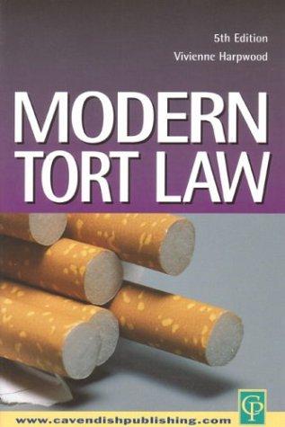 9781859418116: Modern Tort Law
