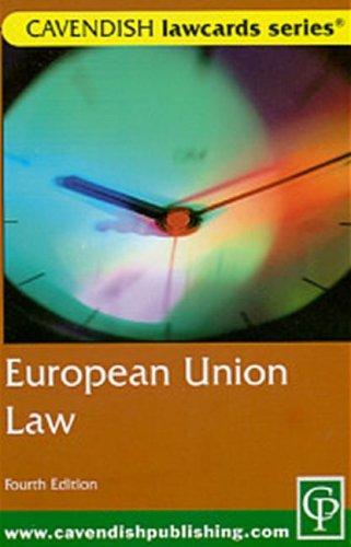 Cavendish: European Union Lawcards 4/e: Routledge-Cavendish