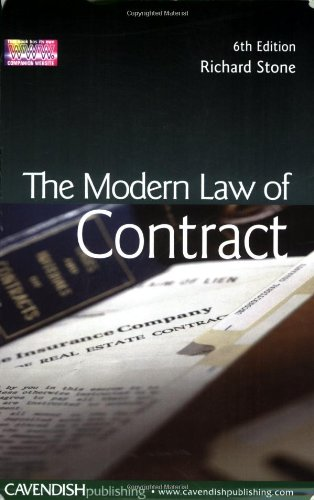 9781859418826: The Modern Law of Contract