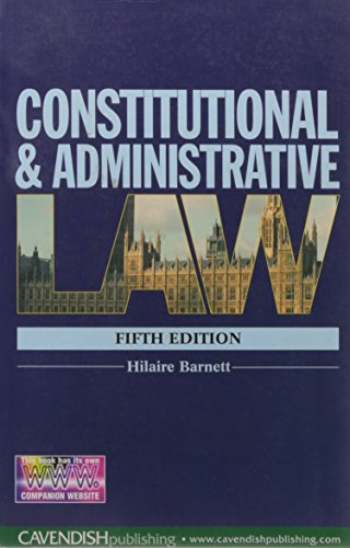 9781859419274: Constitutional & Administrative Law