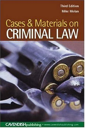 9781859419359: Cases & Materials on Criminal Law