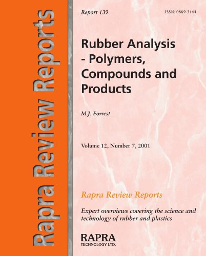 Rubber Analysis Polymers Compounds Products by Forrest M J - AbeBooks