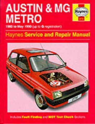 Austin, M.G. Metro, 1980-90 Service and Repair Manual (Haynes Service and Repair Manuals): Legg, A....
