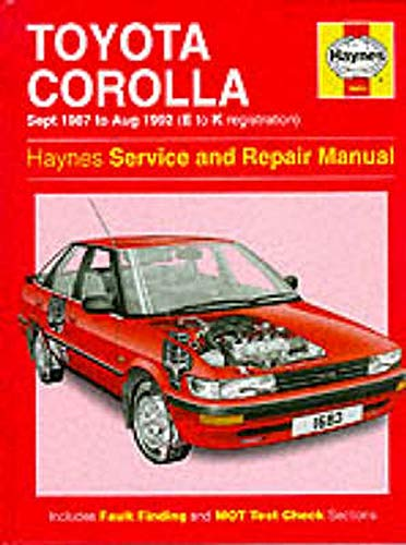 9781859601631: Toyota Corolla 1987-92 Service and Repair Manual
