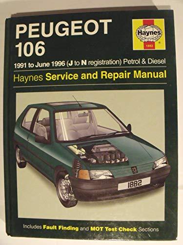 9781859601921: Peugeot 106 (Petrol and Diesel) Service and Repair Manual (Haynes Service and Repair Manuals)