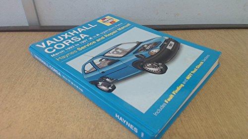 9781859601938: Vauxhall Corsa (Petrol) Service and Repair Manual (Haynes Service and Repair Manuals)