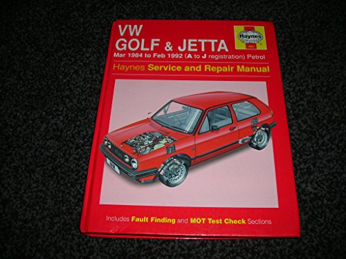 9781859601952: Volkswagen Golf and Jetta ('84 to '92) Service and Repair Manual (Haynes Service and Repair Manuals)