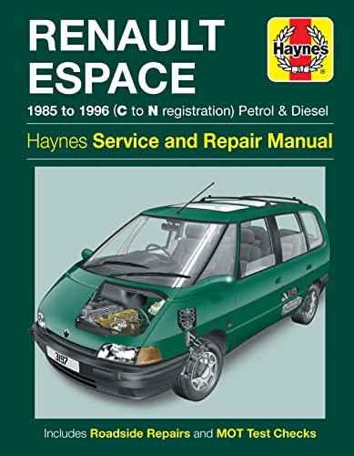 C-N REG. HAYNES MANUAL FOR RENAULT ESPACE.1985-1996