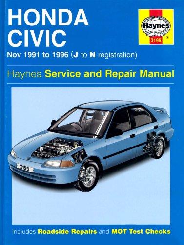 Honda Civic (91-96) Service and Repair Manual: Legg, A. K.,
