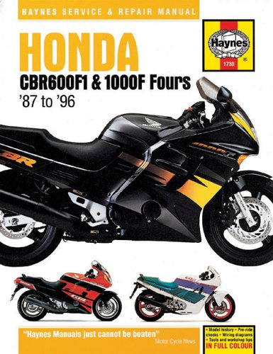 9781859602287: Honda CBR600F1 and 1000F Fours Service and Repair Manual (Haynes Service and Repair Manuals)
