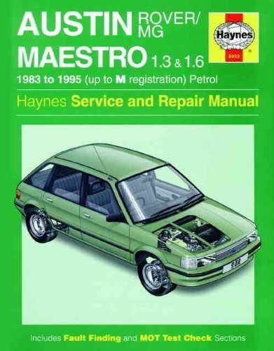 Austin/MG Maestro 1.3 and 1.6 Service and: Mead, John S.