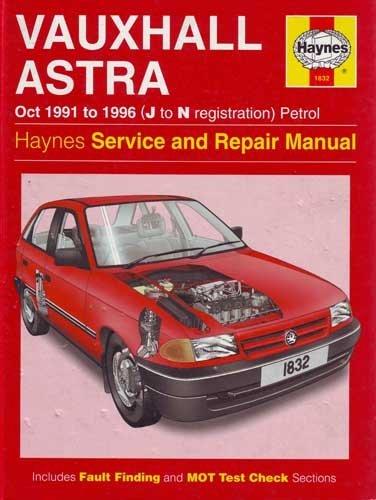 Vauxhall Astra Saloon Hatchback Hb (Haynes Service & Repair Manual): Vauxhall