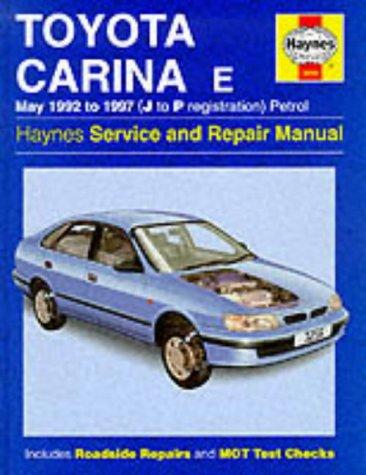 9781859602560: Toyota Carina E Service and Repair Manual (Haynes Service and Repair Manuals)