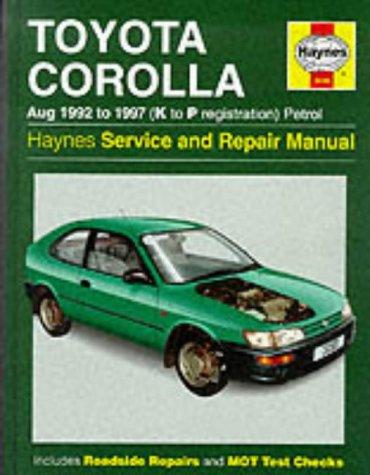 Toyota Corolla 1992-97 Service and Repair Manual: Storer, Jay