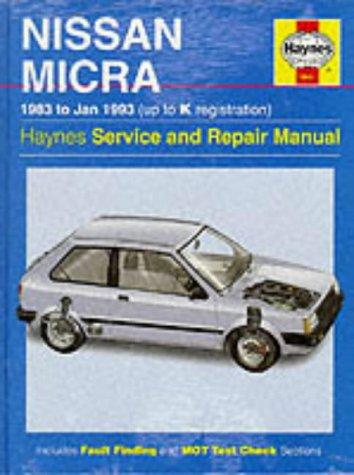 9781859602706 nissan micra 83 jan 93 haynes repair manual rh abebooks co uk 2001 Nissan Micra 2000 Nissan Micra Black