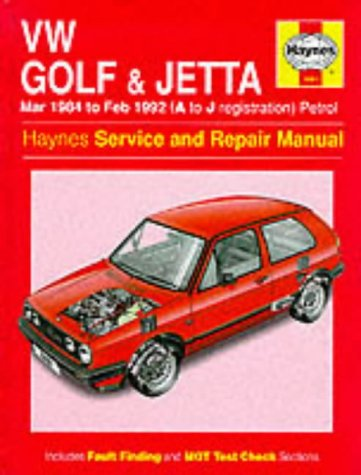 9781859602829: Volkswagen Golf and Jetta ('84 to '92) Service and Repair Manual (Haynes Service and Repair Manuals)