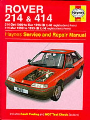 9781859604588: Rover 214 and 414 (89-96) Service and Repair Manual (Haynes Service and Repair Manuals)