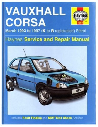 Vauxhall Corsa (93-97) Service and Repair Manual: Rendle, Steve; Coombs, Mark