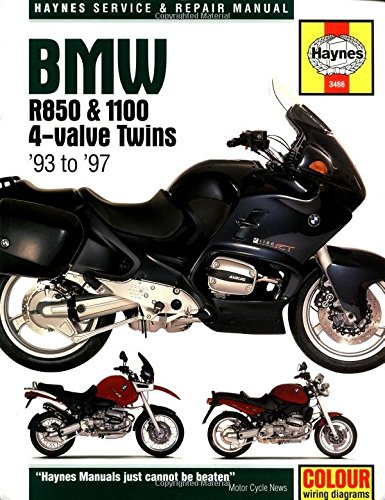 Haynes Maintenance and Repair Manual for BMW R850 & 1100 4-Valve Twins, 1993-1997