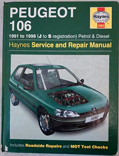 9781859605608: Peugeot 106 Petrol & Diesel 1991 - 1999 (J to T) (Update): 1991 - 1999 (J to T) (Haynes Service and Repair Manuals)