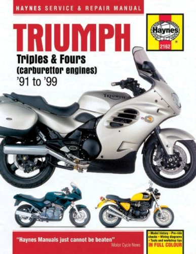 9781859605646: Triumph Triples and Fours (1991-99) Service and Repair Manual: Carburettor Engines (Haynes Service and Repair Manuals)