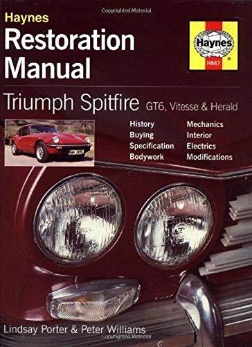 Triumph Spitfire, GT6, Vitesse and Herald Restoration: Williams, Peter, Porter,