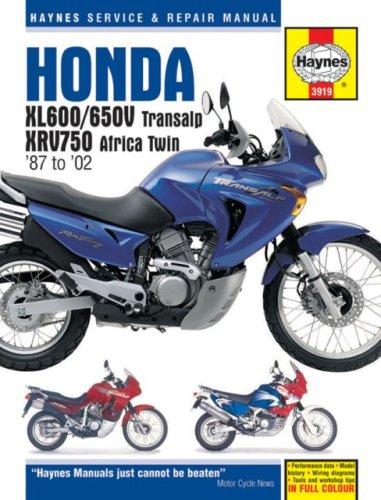 9781859609194: Honda Xl600/650v Transalp, Xrv750 Africa Twin '87 to '02